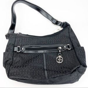 Giani Bernini Signature Black Hobo Handbag